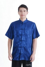 Asia Shirt Dragon Blue